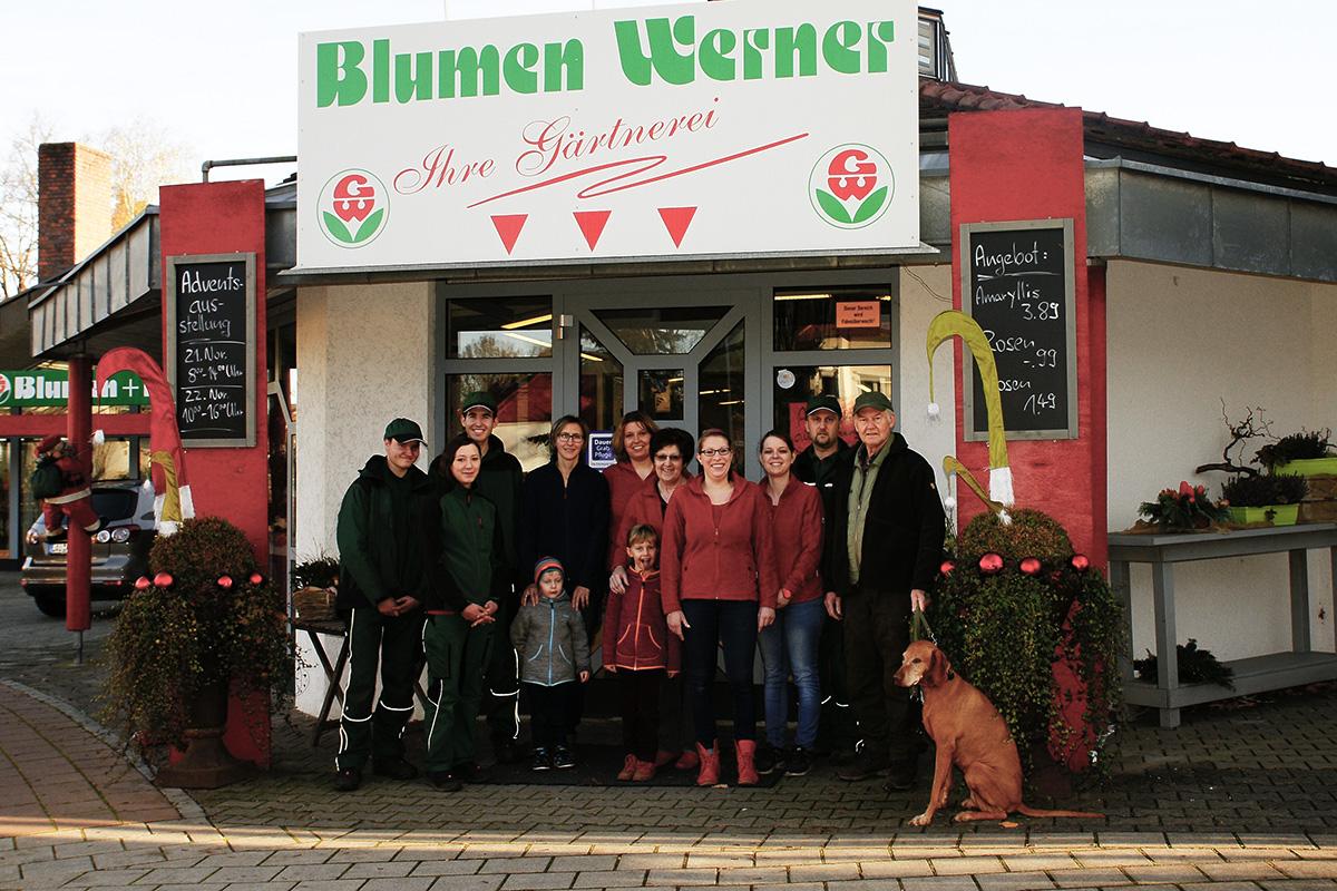 Das Team von Blumen Werner in Röthenbach