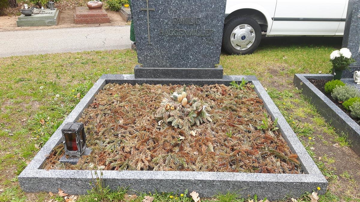 Friedhof Grabanpflanzung